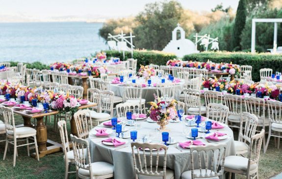 Chic colorful wedding in Athenian Riviera
