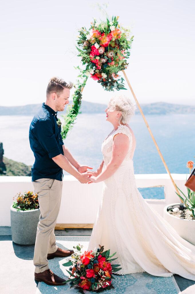 wedding elopement santorini