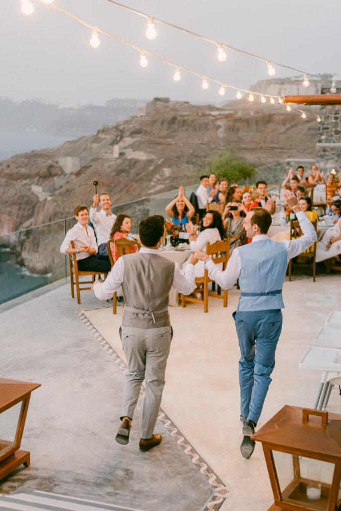 pride wedding in santorini